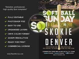 softball sunday flyer template flyerheroes