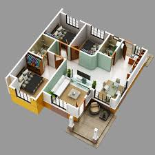 modern bungalow house with 3d floor plans and firewall amazing