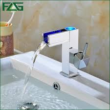 bathroom waterfall faucets elite modern bathroom sink waterfall