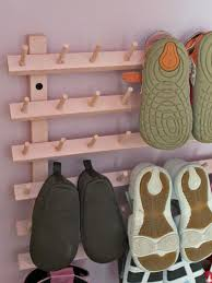 lovely thormy desaign ideas for creative shoe storge from wooden