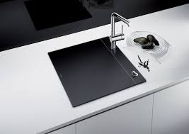 the award winning blanco crystalline in black sink vanishes when