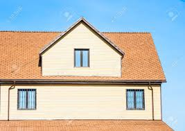gamble roof gable roof private residential new modern house with a window