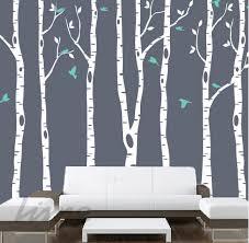 birch tree wall murals home interior