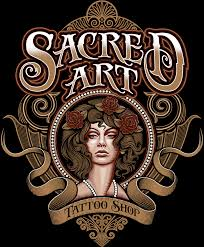 sacred art tattoo shop logo on behance