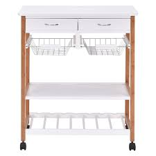 white rolling kitchen island trolley cart kitchen u0026 dining carts