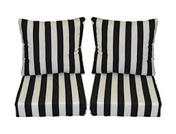 buy black and white stripe cushions for patio outdoor deep seating