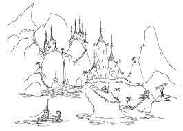 coloring pages monkey sailing village alligators