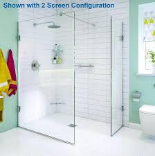 wet room shower screen panels impey aqua screen x 10mm thick