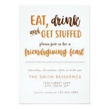 friendsgiving thanksgiving dinner feast potluck card zazzle