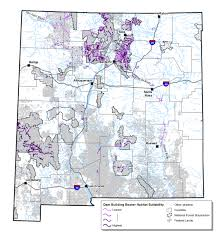 New Mexico Counties Map by Assessing Beaver Habitat On Federal Lands In New Mexico
