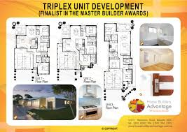 Triplex House Plans Home Builders Advantage Triplex Unit Development