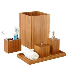 Bathroom Decor Set by Amazon Com Seville Classics 5 Piece Bamboo Bath And Vanity Luxury
