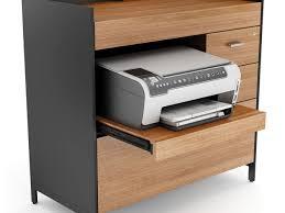 Printer Storage Cabinet Compact Office Furniture Computer Desks With Printer Storage