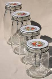 vintage glass canisters kitchen retro kitchen canisters