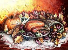 thanksgiving dinner painting by shana rowe jackson