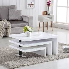 High Gloss Side Table Best 25 White Gloss Coffee Table Ideas On Pinterest Table Tops