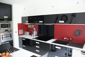 hotte industrielle cuisine cuisine moderne rouge et noir collection avec cuisine style