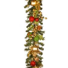christmas garland battery operated led lights the holiday aisle decorated christmas garland with battery operated