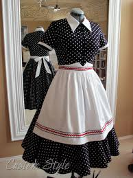 I Love Lucy Home Decor by I Love Lucy Black U0026 White Polka Dot Dress With Apron Custom Style