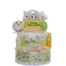 easter theme 2 tier diaper cake baby shower diaper cakes