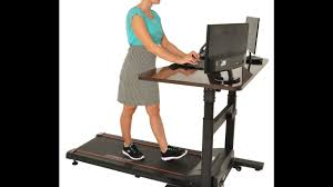 Sit Stand Treadmill Desk by Walk While You Work On The Conquer Electric Treadmill Desk Youtube