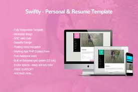 Resume Templates Minimalist by Swiftly Personal And Resume Templa Bootstrap Themes Creative