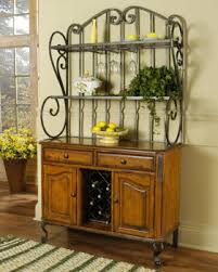 bakers rack with cabinet bakers rack with storage cabinets title a wrought iron baker s