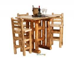 Log Cabin Dining Room Furniture Furnitures Bright Light Log Cabin Dining Table For Small Dining