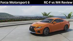 lexus rc f comparison forza motorsport 6 lexus rc f vs bmw m4 car comparison review
