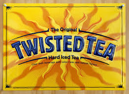 Liquor Signs by Pin Twisted Tea Hard Iced Tea Bottle Label Tin Metal Sign