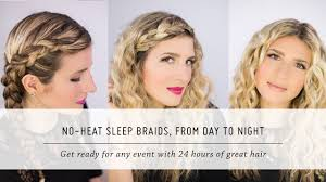 no heat sleep braid waves from day to night diy hair and beauty