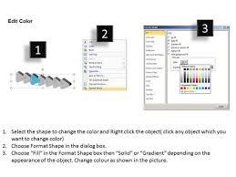 3d regular implementation 7 steps flow chart template powerpoint