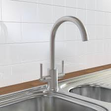KBR Modern Brushed Stainless Steel Kitchen Sink Mixer Tap - Brushed stainless steel kitchen sinks