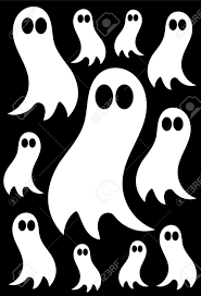 halloween background ghosts white ghosts over black background halloween texture royalty