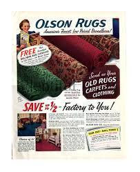 Vintage Retro Home Decor 1941 Olson Rugs Vintage Ad 1940 U0027s Home Decor Retro Home