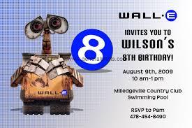 e invitations wall e invitations general prints