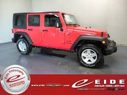 jeep red 2017 jeep wrangler unlimited sport for sale in bismarck nd
