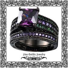 Black Wedding Rings by Best 25 Gothic Wedding Rings Ideas On Pinterest Date Of