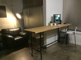 Diy Desk Pipe Diy Standing Desk Pipe Furniture Info