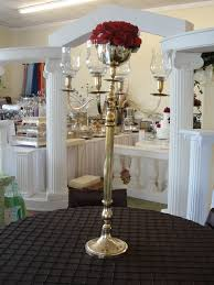 candelabra rentals simply weddings candelabra rentals gold tabletop