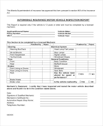 vehicle inspection report template 39 inspection report exles