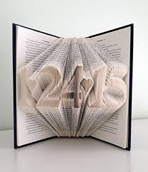 paper anniversary gift ideas wedding anniversary present folded book with