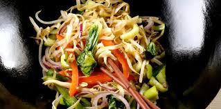 cuisine au wok facile wok de légumes aux nouilles facile et pas cher recette sur