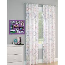 Purple Polka Dot Curtain Panels by Your Zone Circle Dot Window Panel Walmart Com