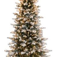 decoration ideas slim frosted artificial green pine tree