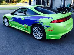 replica of the mitsubishi eclipse paul walker drove in the fast