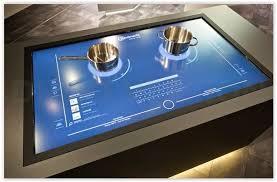 tablette cuisine cook la table de cuisson du futur le même principe qu une tablette