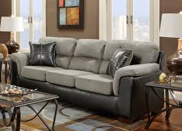 Grey Suede And Black Leather Couch Home Decor And Furniture - Hunter green leather sofa