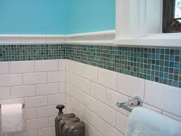 Glass Bathroom Tile Ideas Amazing Blue Mosaic Bathroom Tiles On Home Design Ideas With Blue
