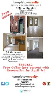 24 best apartments and houses for rent at temple university images 6 bd 3 ba house w patio central air full kitchen